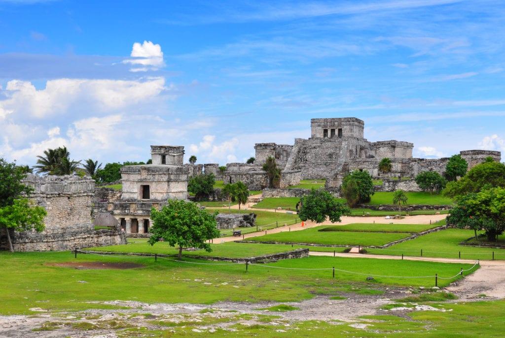 Ruiny w Tulum, Meksyk