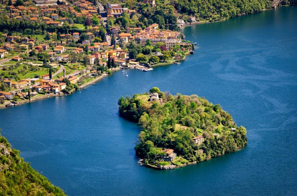 Isola Comacina, Jezioro Como