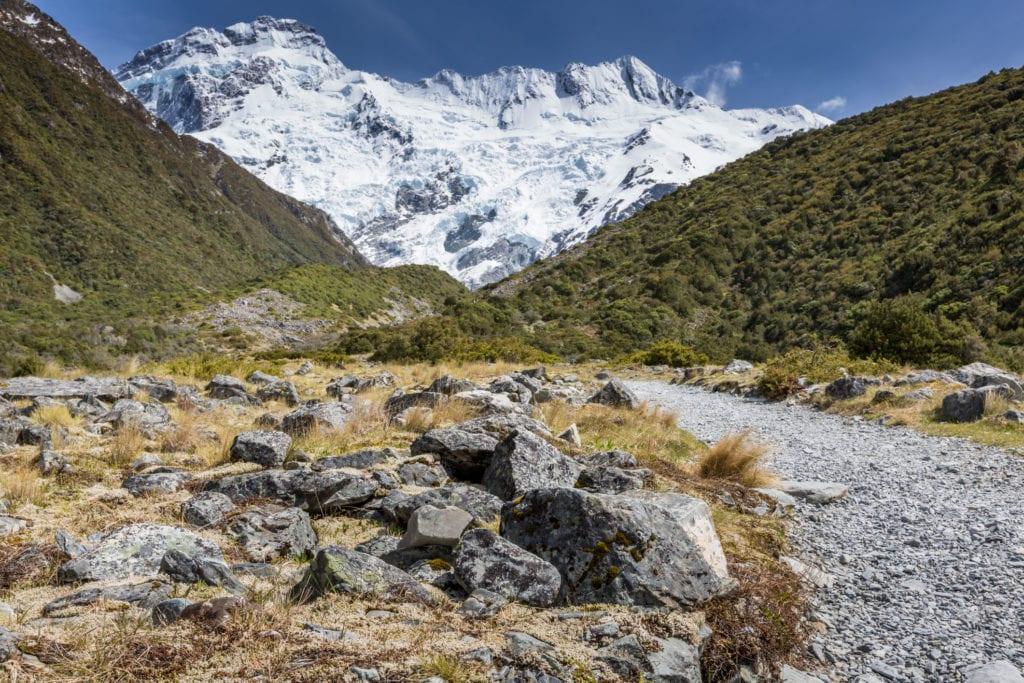 gora Cooka w parku narodowym Cooka, Nowa Zelandia
