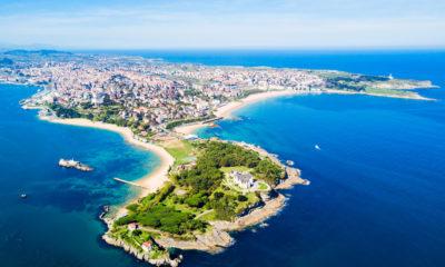 Santander z lotu ptaka, Hiszpania