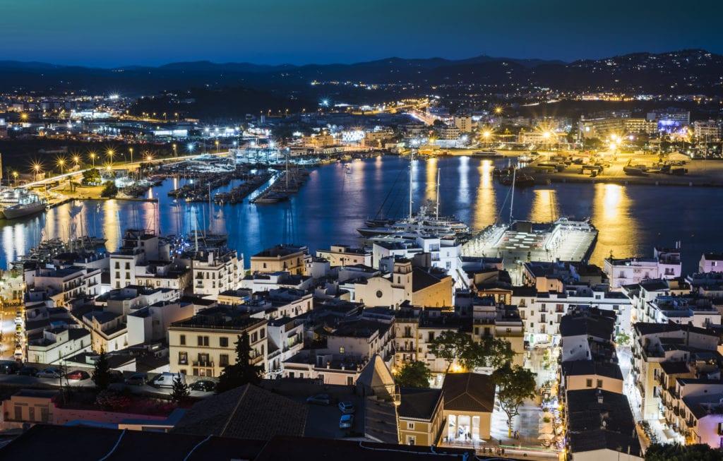 Port w Eivissa nocą, Ibiza