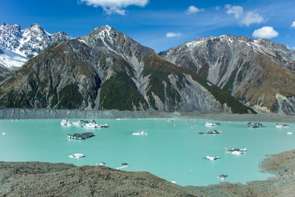 Jezioro Tasman Glacier w Parku Narowym Mount Cook