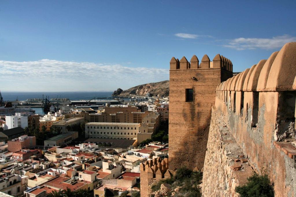 Almeria, widok z Alcazaba, Andaluzja