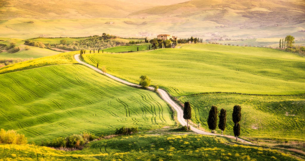Dolina Val d'Orcia, Toskania