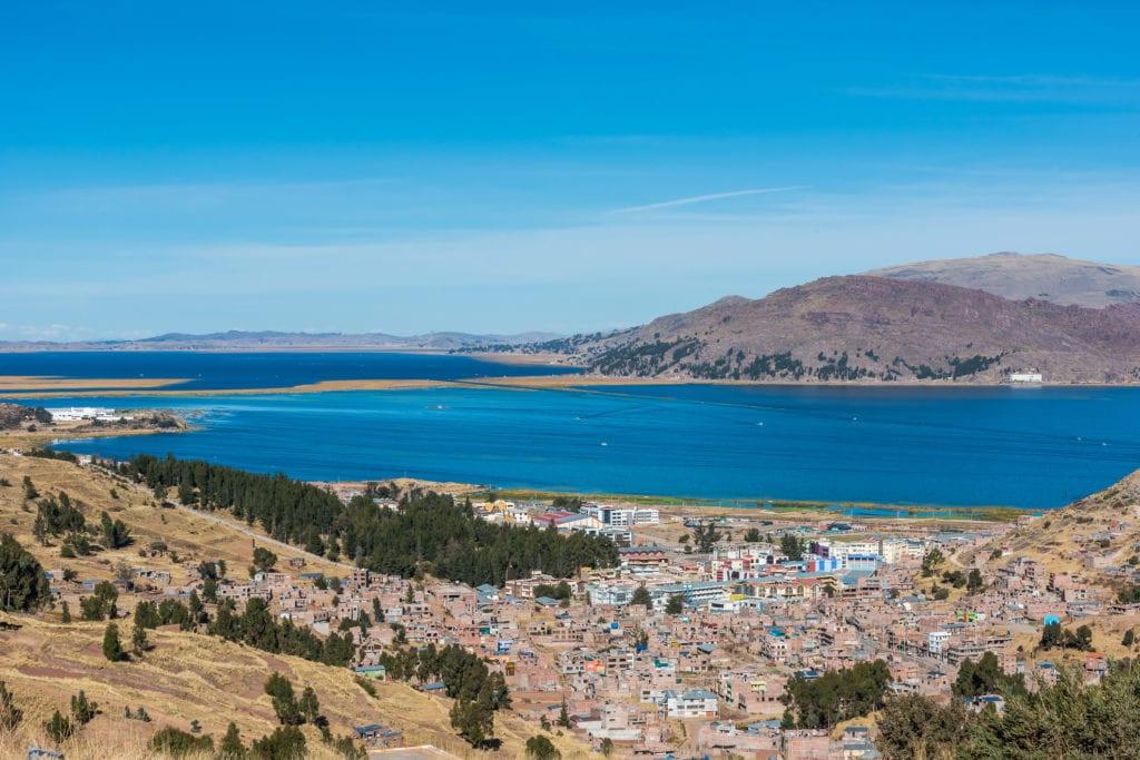 Jezioro Titicaca, miejscowość Puno, Peru