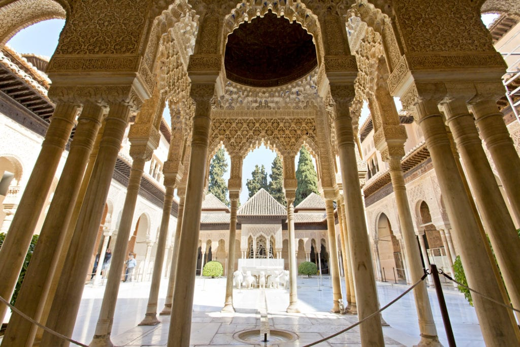 Pałac Nasrydów, Patio of the Lion, Granada Andaluzja