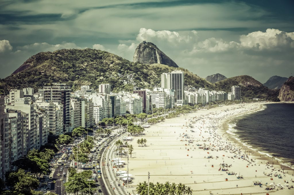 Plaża Copacabana w Rio, Brazylia