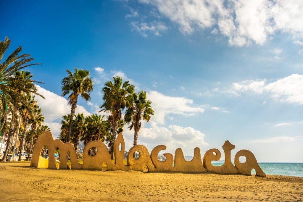 Plaża La Malagueta w Maladze, Andaluzja