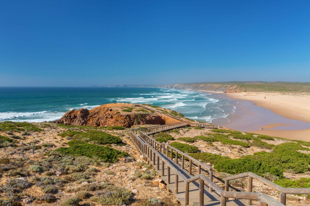 Plaża Praia da Amoreira, Aljezur Algarve