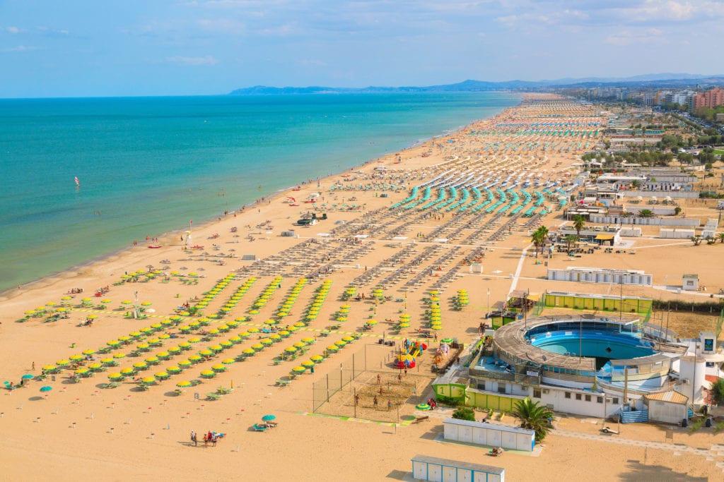 Plaże w Rimini, Włochy