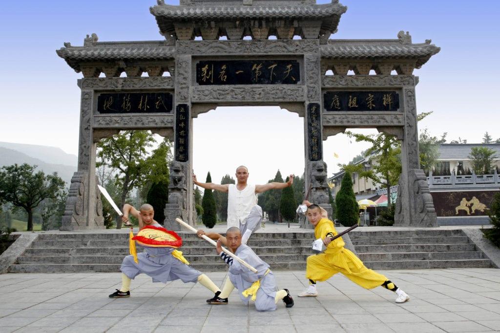 Pokaz kung-fu w klasztorze Szaolin, Chiny