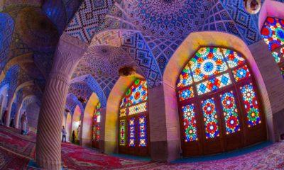 Różowy Meczet (Nasir al-Mulk) w Szirazie, Iran
