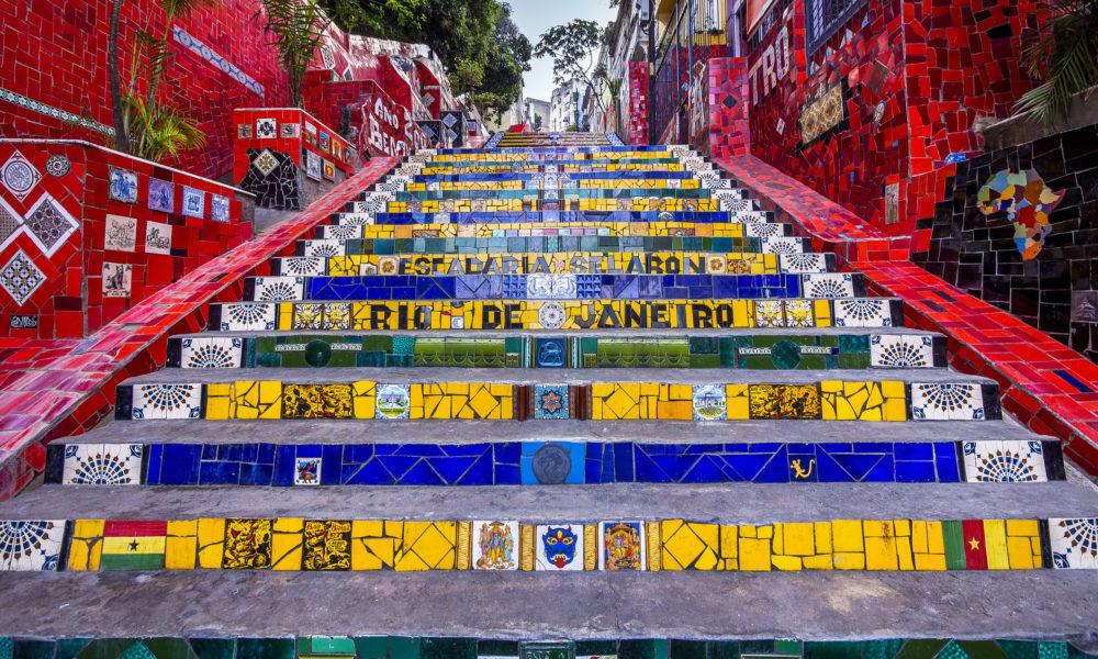 Schody Escadaria Selaron, Rio de Janeiro Brazylia