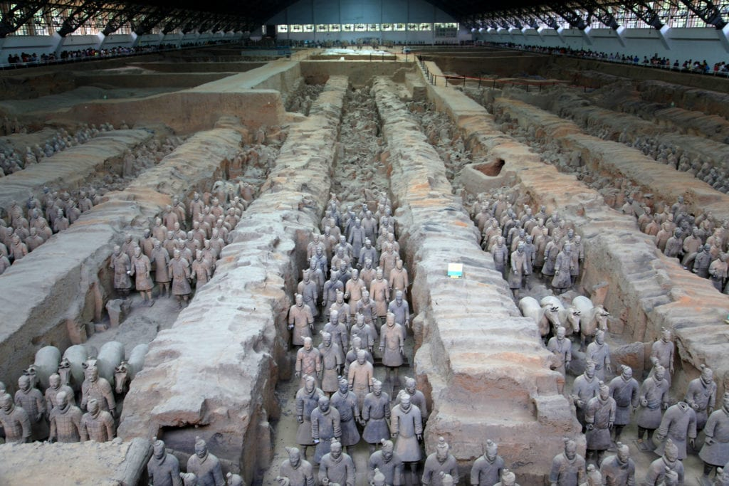 Terakotowa Armia, Chiny