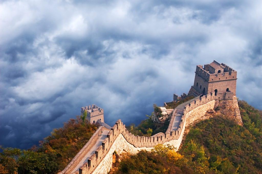 Wielki Mur Chinski, Chiny