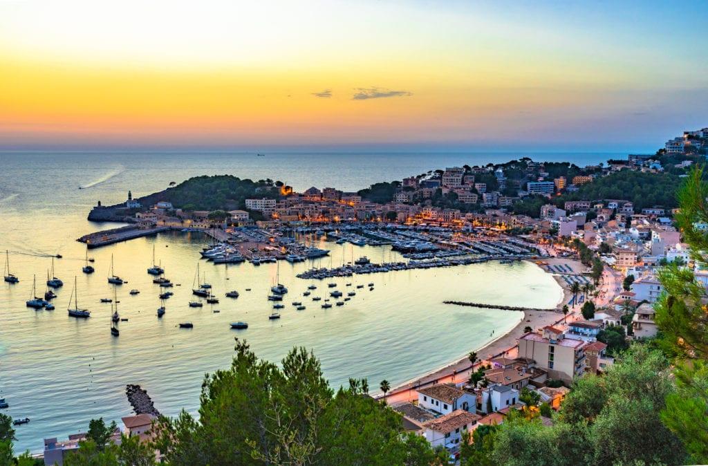 Zachód słońca w Port de Soller, Majorka