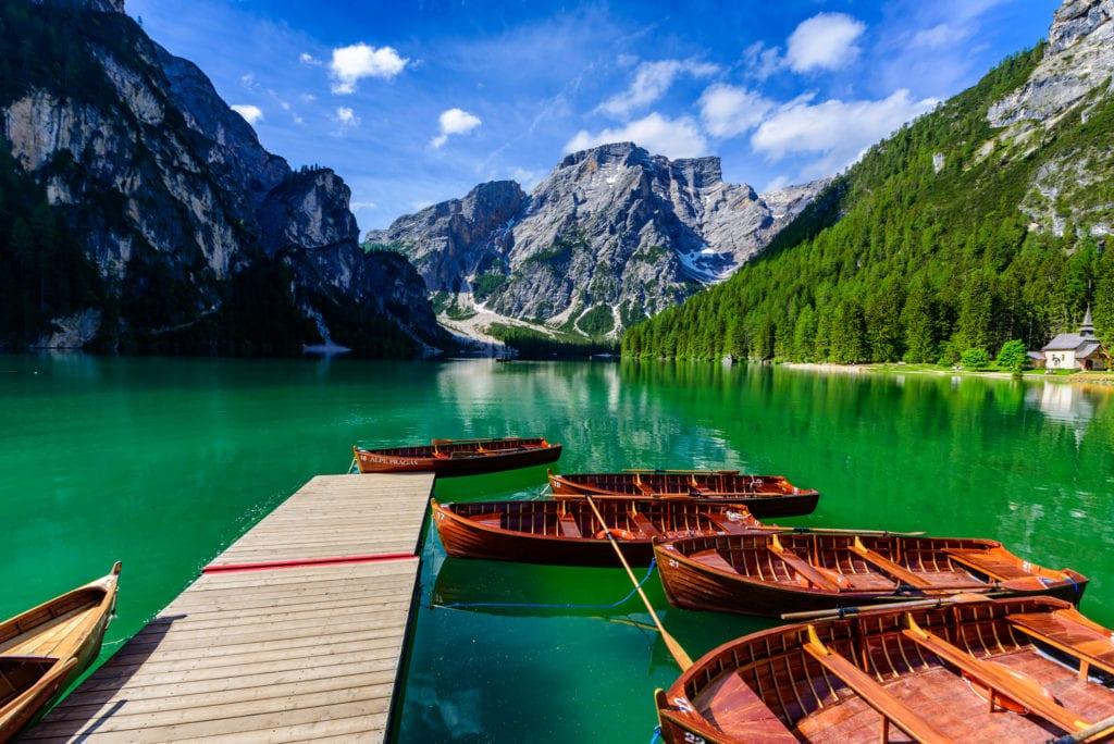 Jezioro Braies, Dolomity Włochy