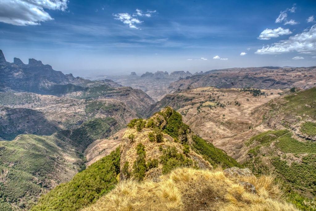 Krajobraz Parku Narodowego Semien, Etiopia