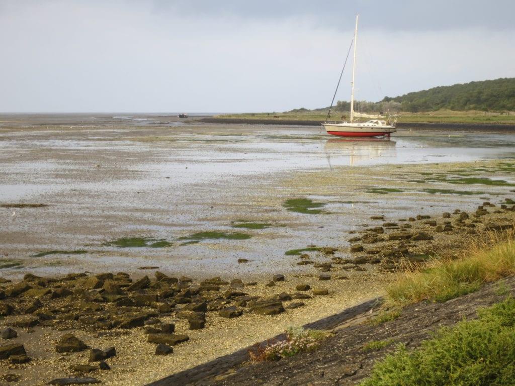 Krajobraz na wybrzeżu Morza Wattowego, teren UNESCO