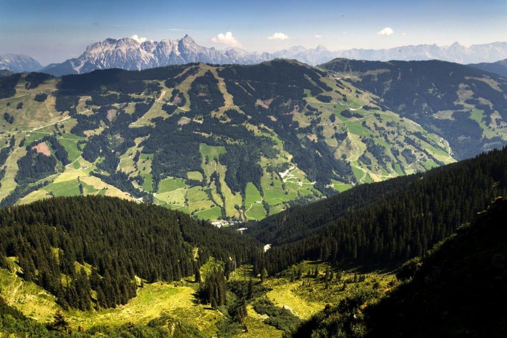 Okolice Leogang idealnie nadają się na wycieczki rowerowe i piesze, Austria