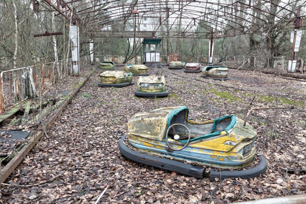 Opuszczony park rozrywki w Pripyat, Ukraina