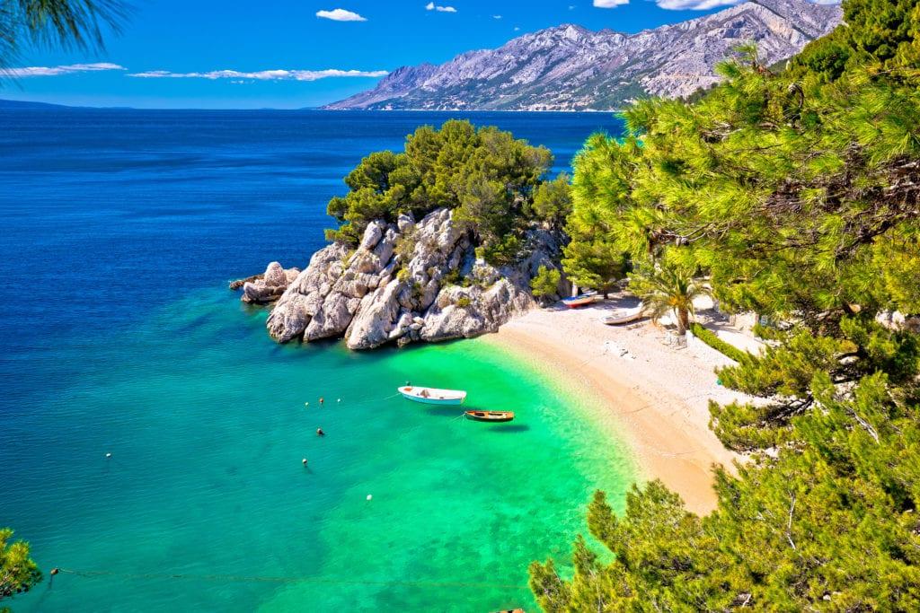 Plaża Punta Rata, Brela, Chorwacja