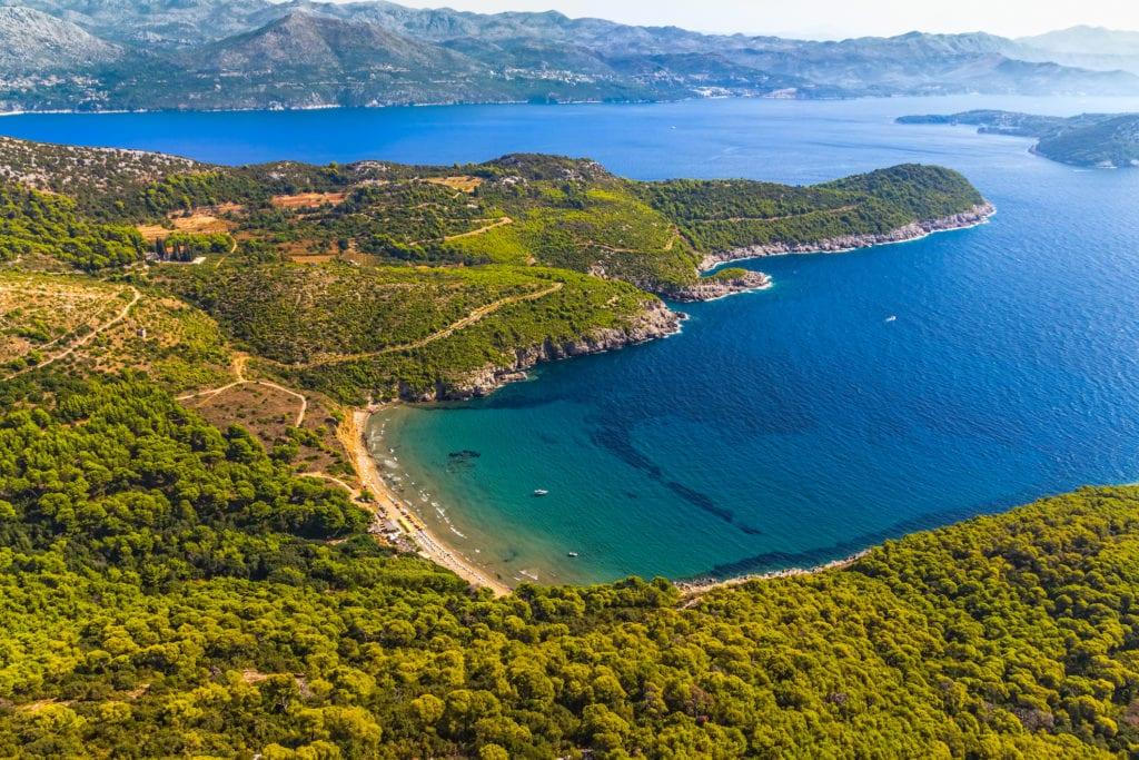 Plaża Sunj, wyspa Lopud, Chorwacja