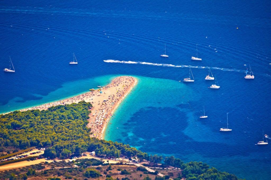Plaża Zlatni Rat, wyspa Brač, Chorwacja