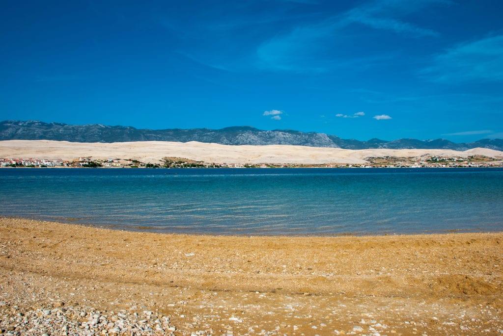 Plaža Čista, wyspa Pag, Chorwacja