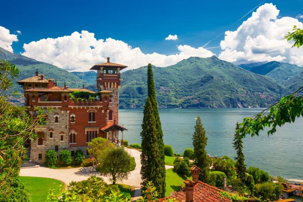 Villa La Gaeta nad jeziorem Como, Włochy