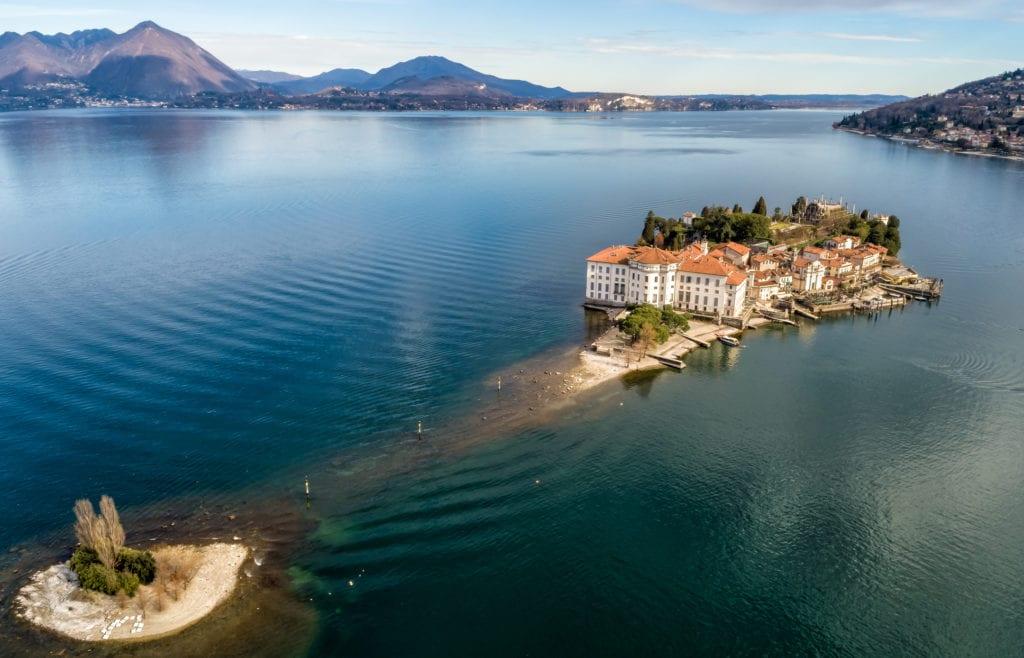 Wyspa Isola Bella na jeziorze Maggiore, Włochy