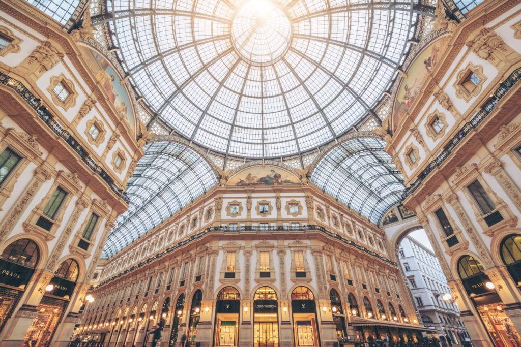 Galleria Vittorio Emanuele II, Mediolan stolica mody
