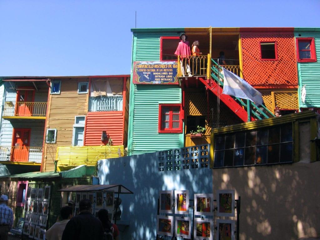 La Boca jest jedną najbardziej kolorową dzielnicą Buenos Aires, Argentyna
