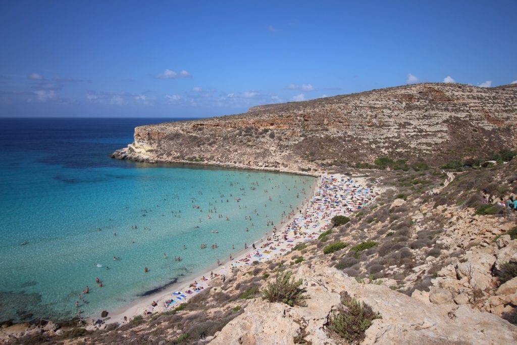 Lampedusa, włoska wyspa