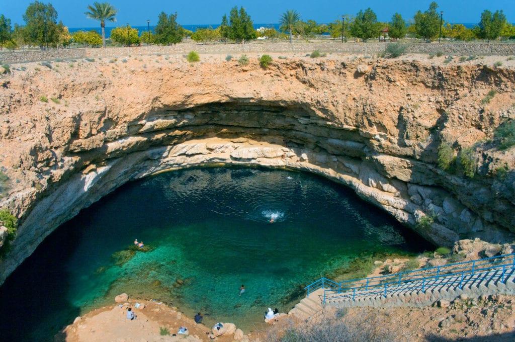 Lej krasowy Bimmah, Oman