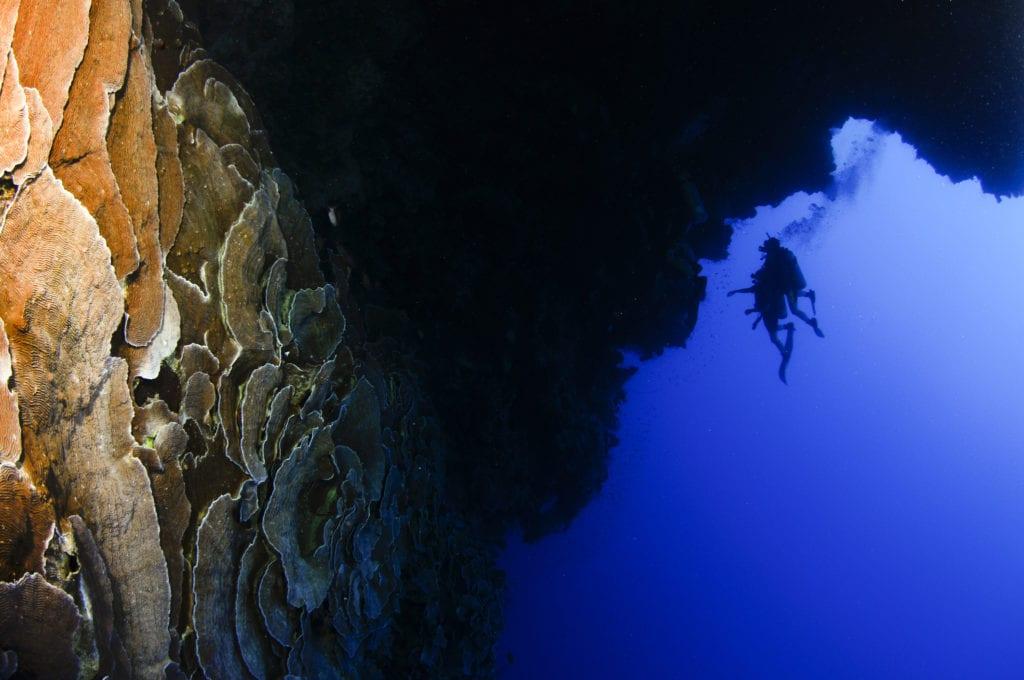 Nurkowanie w Blue Hole, Dahab, Egipt
