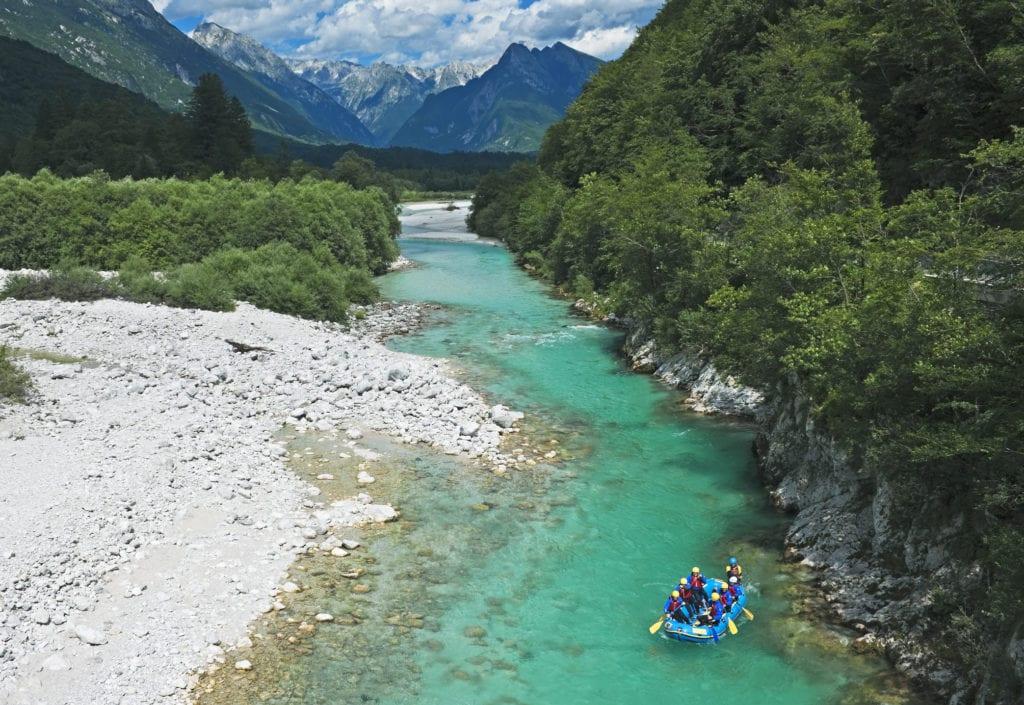 Rafting na rzece Soca, rafting na Słowenii