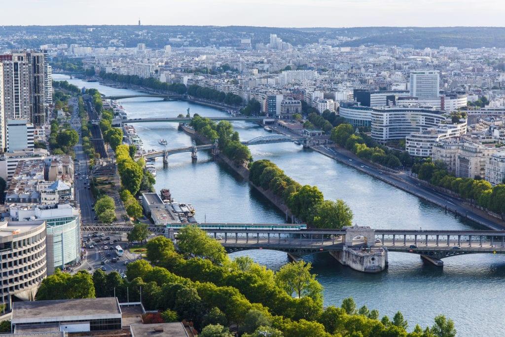 Sekwana widziana z Wieży Eiffla, Paryż
