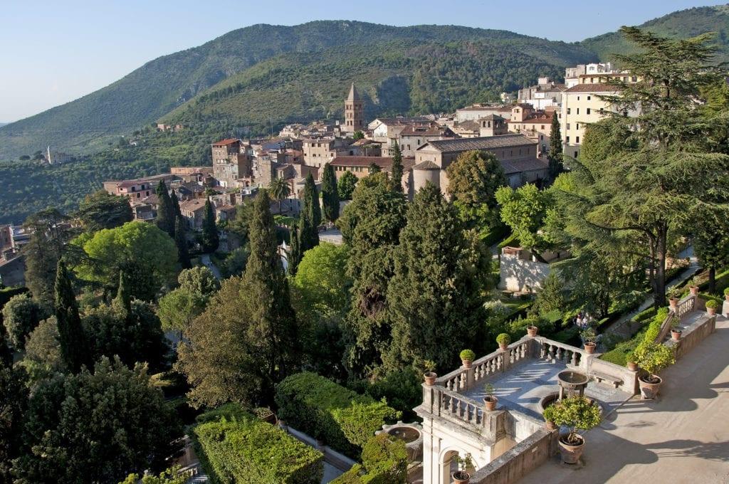 Widok z willi w Tivoli, niedaleko Rzymu