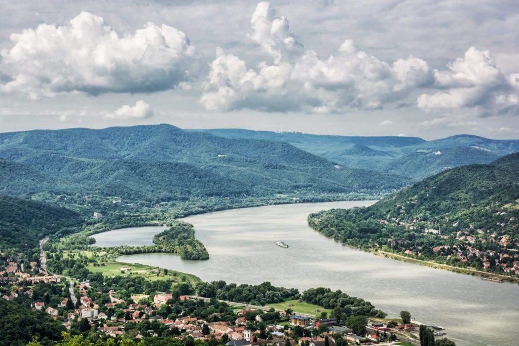 Widok z zamku w Wyszehradzie, Węgry