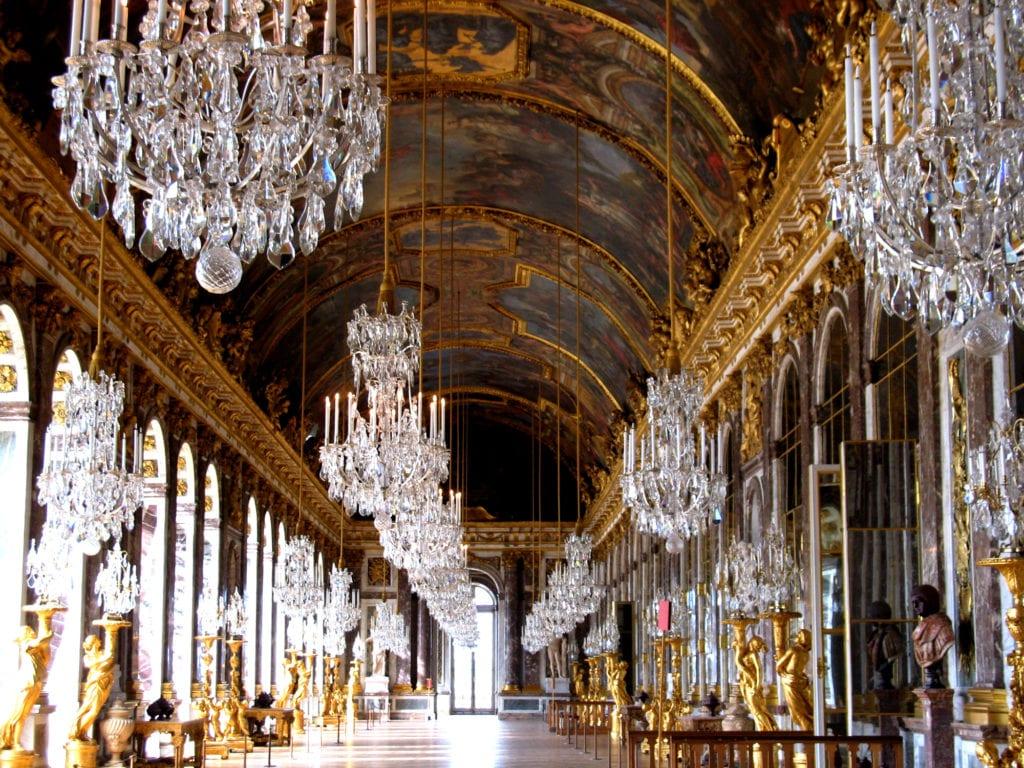 Wnętrze w Pałacu Wersalskim, Francja UNESCO