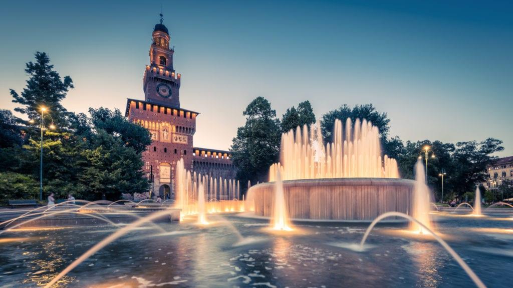 Zamek Sforzów, Mediolan