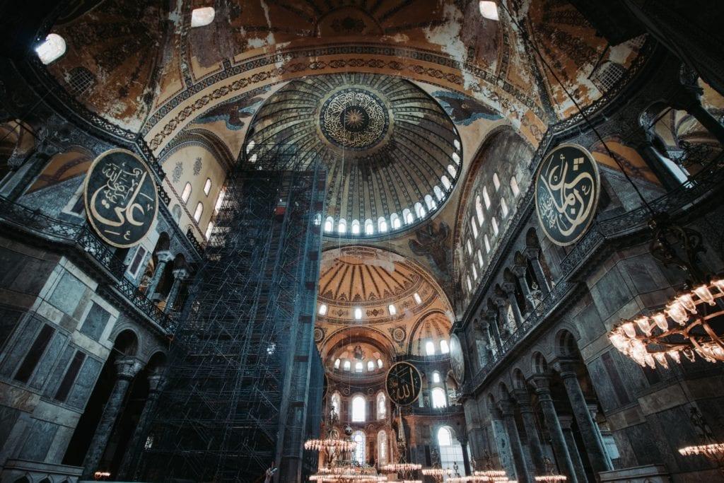 Hagia Sofia wewnątrz, Stambuł