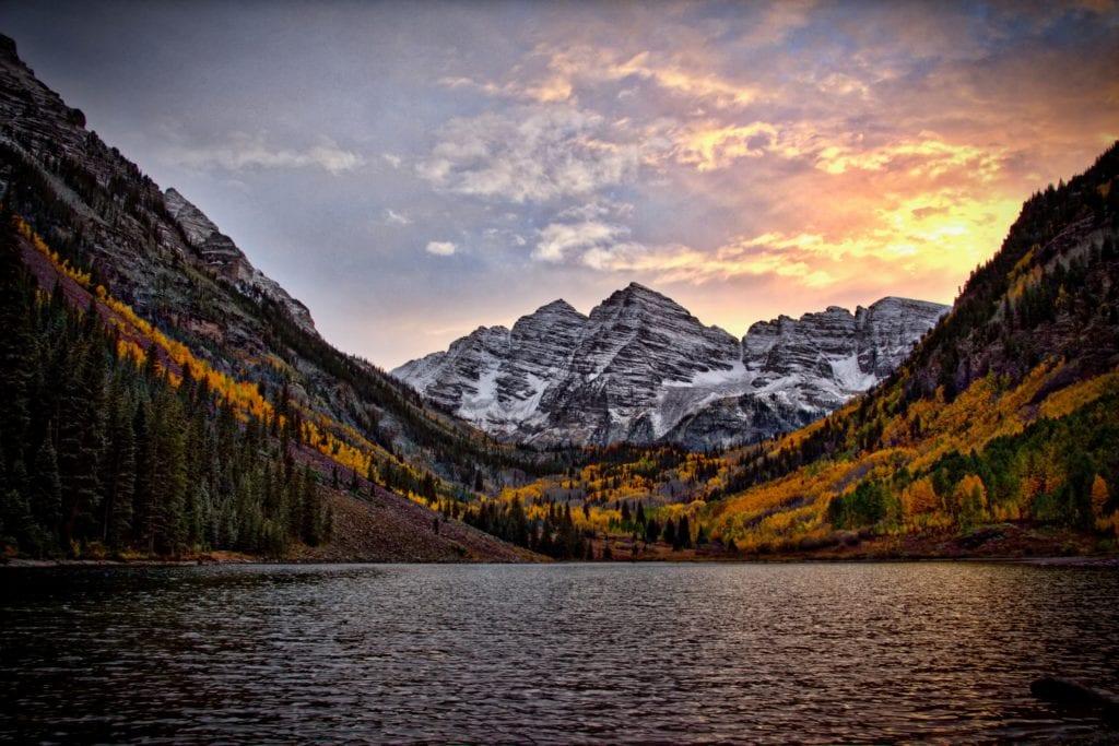 Maroon Bells w Kolorado, USA