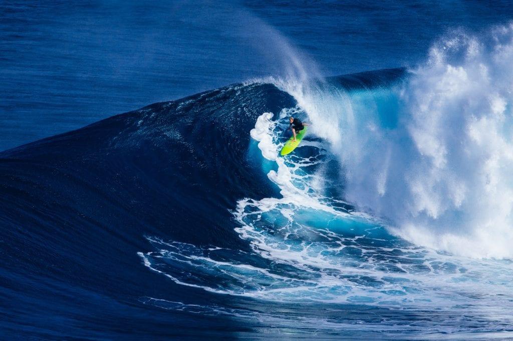 Surfing na Maui na Hawajach,
