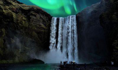 Wodospad Skógafoss na Islandii,