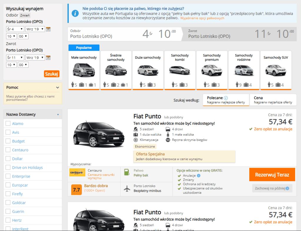 Proces rezerwacji samochodu przez Flipo.pl jest prosty i intuicyjny