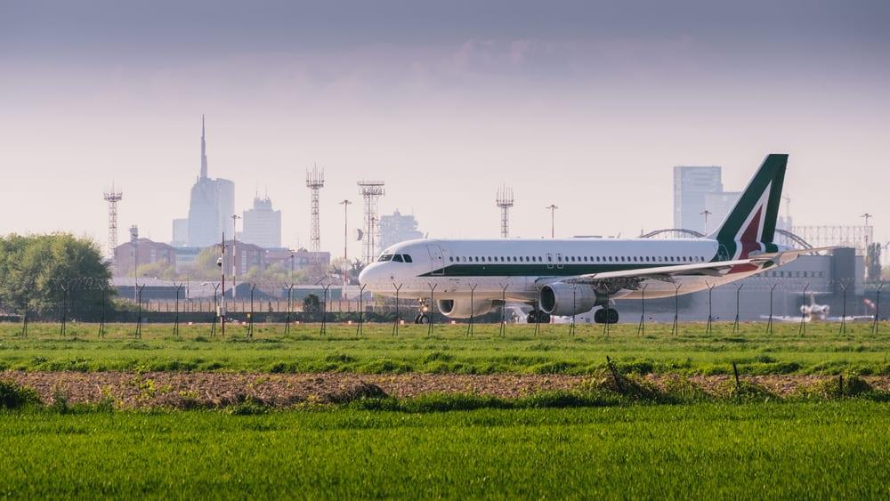 Alitalia, samolot polskiego przewoznika