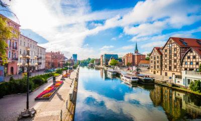 Bydgoszcz położona jest nad Brdą, nowa trasa lot warszawa - bydgoszcz