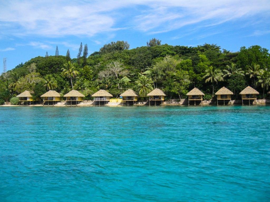 Domki na wyspie Iririki, niedaleko Port Vila, Vanuatu